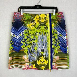 ELIE TAHARI Colorful Pattern Skirt